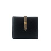 GT0013BK กระเป๋าสตางค์หนังแกะ ดีไซน์หัวเข็มขัด - สีดำ