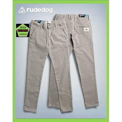 rudedog กางเกงขายาว ชาย ขาปล่อย ทรง เดฟยืด  รุ่น work a day สีครีม