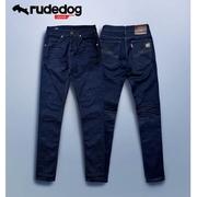 rudedog กางเกงยีนส์ทรงเดฟ รุ่น new classic สีกรมเข้ม ปัก RD