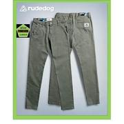 กางเกงขายาว ชาย ขาปล่อย ทรงเดฟยืด rudedog รุ่น work a day สีเขียวพราง