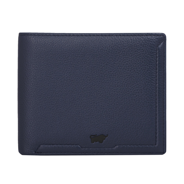 (BRAUN BUFFEL)BRAUN BUFFEL Jimmy Series 5 Card Transparent Window Wallet - Blue BF315-316-OC