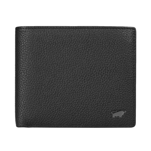 (BRAUN BUFFEL)BRAUN BUFFEL series 12 card middle flip transparent window wallet - black BF318-317-BK
