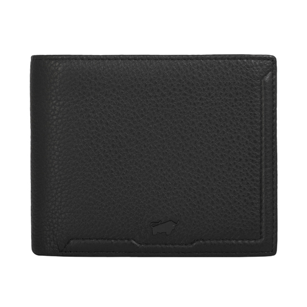 (BRAUN BUFFEL)BRAUN BUFFEL Jimmy Series 5 Card Transparent Window Wallet - Black BF315-316-BK