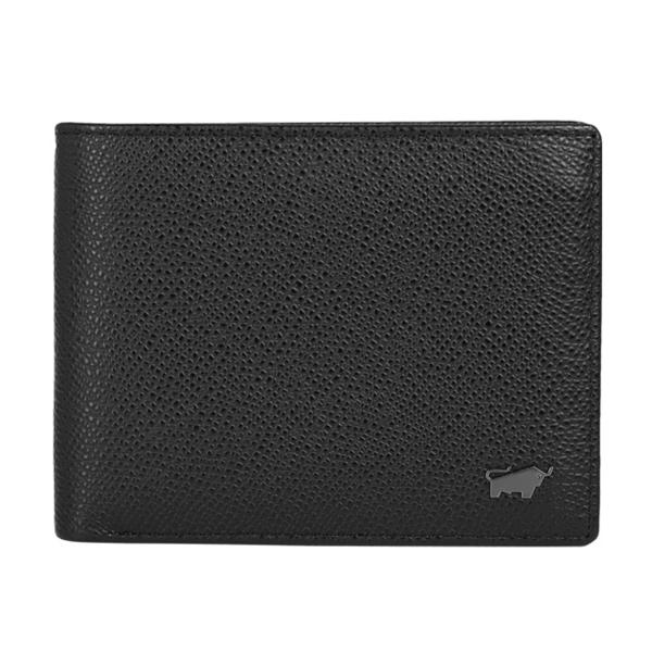(BRAUN BUFFEL)BRAUN BUFFEL Morrison series 8 card middle pocket change wallet - black BF317-318-BK
