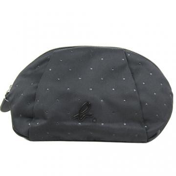 (agnes b)Agnes b. Little wrinkle arc cosmetic bag (large / black)