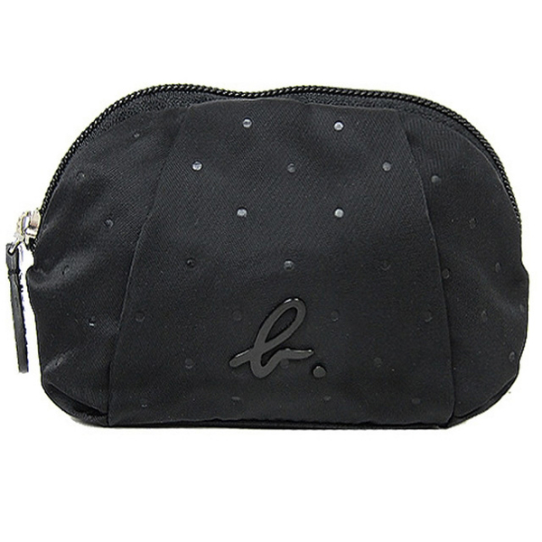 (agnes b)Agnes b. Little wrinkle arc cosmetic bag (small / black)