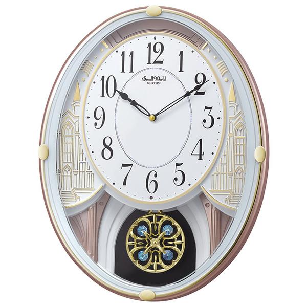 (RHYTHM CLOCKS)Japanese Resound Clock - Palace Castle Music Time Clock / Crystal Dynamic Swing