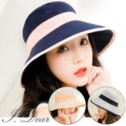 [I.Dear] ผู้หญิงที่สง่างามเกาหลีจับคู่สีหมวกชาวประมงหมวก (4 สี)