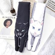 Super cute cat warm feather scarf