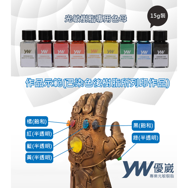 (YW)[YW 崴 崴] photosensitive resin special dye (color master) red - saturated 15g