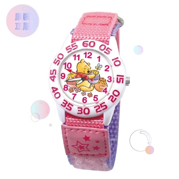 (Disney)[Disney Disney] Children's Self-adhesive Watch Pink Winnie the Pooh