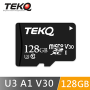 TEKQ การ์ดหน่วยความจำ 128G microSDXC UHS-I U3 V30 A1 การ์ดหน่วยความจำความเร็วสูงพร้อมการ์ดโอนถ่ายวิดีโอรองรับ 4K