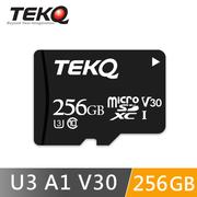 TEKQ 256G記憶卡 microSDXC UHS-I U3 V30 A1 高速記憶卡 附轉卡 支援4K錄影