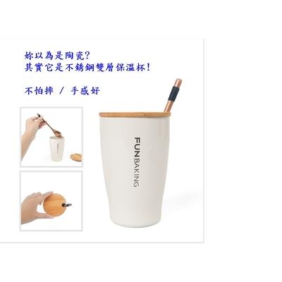 304 สร้างสรรค์สแตนเลสสองชั้นถ้วยกาแฟถ้วยปิกนิกถ้วยนม