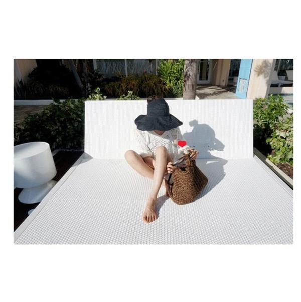 [BeOK] Korean hollow collapsible sun hat sun hat pink color