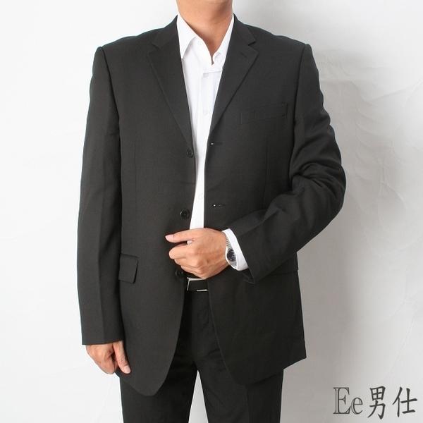 [Ee Men] กระเป๋าเสื้อคอวีสีแดงเสื้อผ่าร่องตรง - ดำ