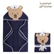 สหรัฐเพื่อน luvable สัตว์ทารกการสร้างแบบจำลองผ้าขนหนูอาบน้ำผ้าฝ้ายคลุมด้วยผ้า 100% / Baojin _ เซเลอร์หมี (LF801004)