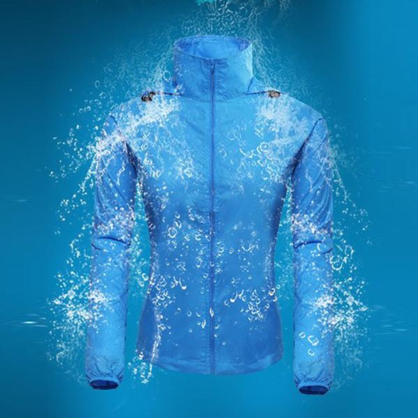 เสื้อกันลมกันฝน แบบแห้งเร็ว สำหรับใส่ตั้งแคมป์และตกปลา (น้ำหนักเบาพิเศษ)