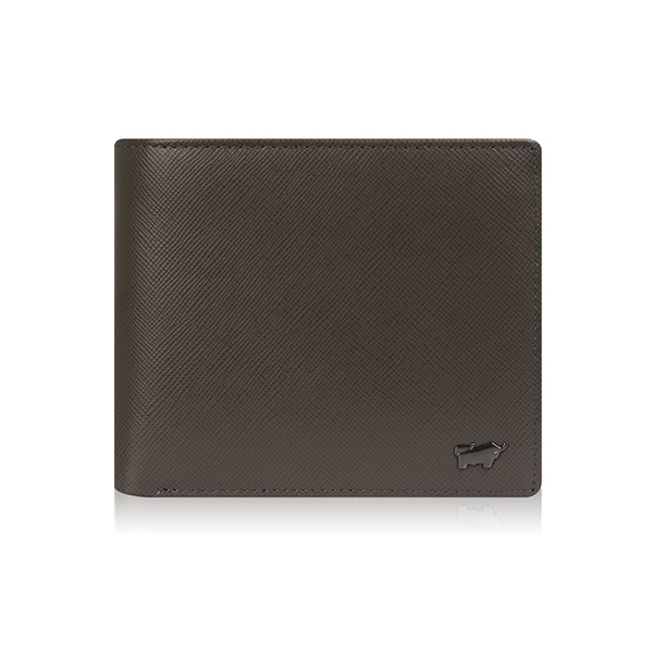 (BRAUN BUFFEL)[BRAUN BUFFEL] German Little Taurus Harrison Series 8 Card Contrast Wallet (Dark Khaki Green)