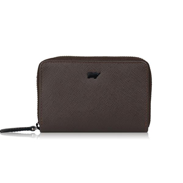 (BRAUN BUFFEL)[BRAUN BUFFEL] Lofino P series zipper purse - coffee black BF334-201-DM