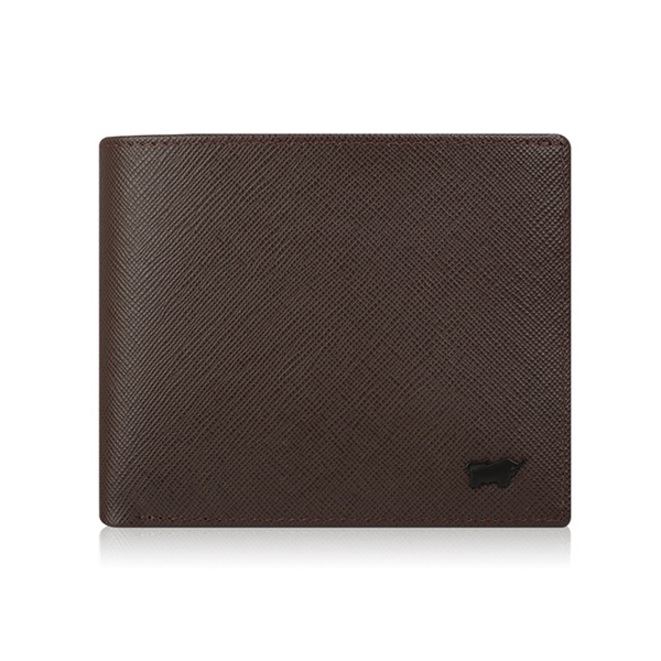 (BRAUN BUFFEL)[BRAUN BUFFEL] Lofino P series 5 card transparent window wallet - coffee black BF334-316-DM