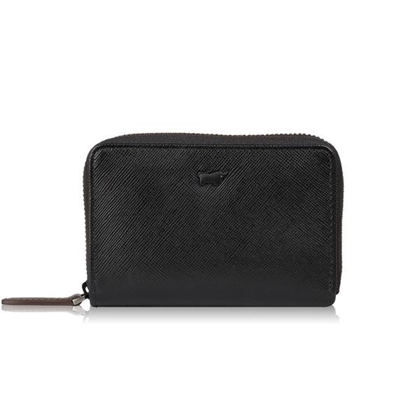 (BRAUN BUFFEL)[BRAUN BUFFEL] Lofino P series zipper purse - black coffee BF334-201-BD
