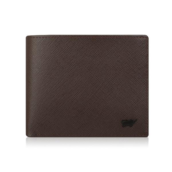 (BRAUN BUFFEL)[BRAUN BUFFEL] Lofino P Series 4 Card Coin Bag Wallet - Coffee Black BF334-315-DM