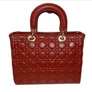 GIFT - lambskin plaid - red - กระเป๋าสะพายกระเป๋าสะพาย