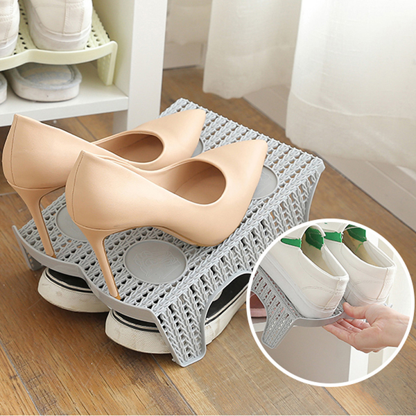 Yueyang thickening breathable upper and lower double shoes magic shoe rack storage rack value 2 (25222)