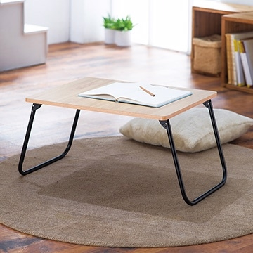 โต๊ะ Lohas / โต๊ะในห้อง / โต๊ะพับน้ำหนักเบา 60x45x30 ซม