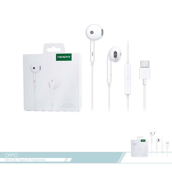 (oppo)OPPO original MH135 high quality semi-in-ear headphones Type-C interface / wire control answering button [new boxed]