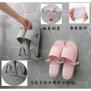 กาวที่ไร้รอยต่อแขวนผนังรองเท้าแตะห้องน้ำชั้นเก็บรองเท้าชั้นเก็บรองเท้าแตะ