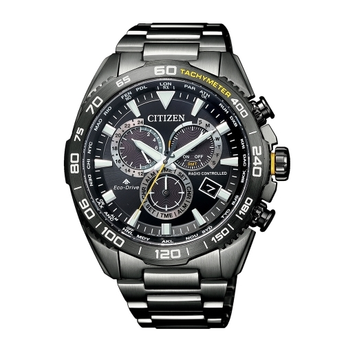(CITIZEN)CITIZEN Star PROMASTER accurate time wave light kinetic energy watch CB5037-84E