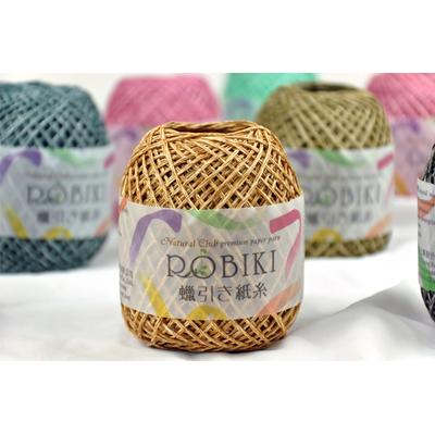 Natural Club ROBIK เชือกเทียนสำหรับถัก ทำงานฝีมือ 3S689 เส้นใยจากไม้ ซักได้ สีไม่ซีด หวายไต้หวัน