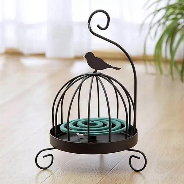 (Meric Garden)[Meric Garden] retro creative handmade metal mosquito coil / aromatherapy disk / small storage tray (birdcage bird)