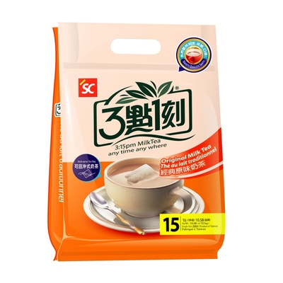 3:15pm ชานมรสชาติต้นตำหรับ (15 ซอง/แพ็ค) X 5 แพ็ค