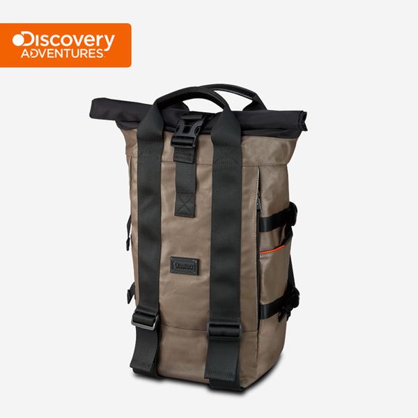 (Discovery Adventures)[Discovery Adventures] City Roll Cover Backpack - Khaki (DA-B16202-WG)