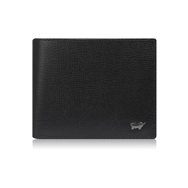 (braun buffel)BRAUN BUFFEL Amer series 8 card middle pocket change wallet - black BF333-318-BK