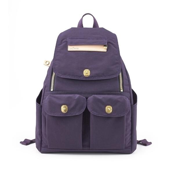 Satana - กระเป๋าเป้ทหารขนาดเล็กซิปหลัง - สีม่วง