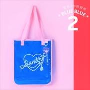 💗 กระเป๋าสะพายไหล่ BENTOY Transparent NEON (สีน้ำเงิน)