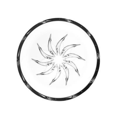 (Rogaska)Rogaska Live Love Sparkle S/1 Sun Mini Bowl 12cm 璀璨 Life Series Handmade Crystal Sun Bowl