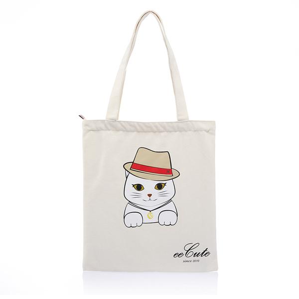 (eecute)eeCute meets cat EE canvas bag (can be carried. shoulder) (smart rice)