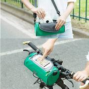 E.City กระเป๋าอเนกประสงค์ทรงกระบอกสำหรับติดแฮนด์จักรยาน มีช่องด้านบนสำหรับใส่โทรศัพท์มือถือ ใช้ทัชสกรีนได้