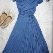 แมกซี่เดรส Maxi Dress ผ้าเรย่อน งานป้าย