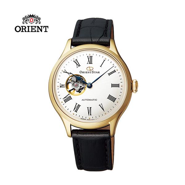 (ORIENT STAR)ORIENT STAR Oriental Star CLASSIC Series Classic Hollow Mechanical Watch Girl Belt Gold RE-ND0004S