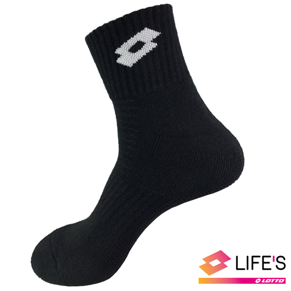 (LOTTO)[LOTTO Italy] TOP 8 professional sports socks (black / white)