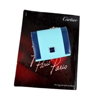 (agnes b.)Agnes b.VOYAGE square logo double color flip short clip (water blue)
