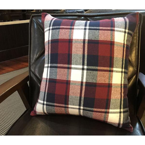 (好眠元素)Sleeping element - British style flannel hug pillowcase (plaid mixed woven pit pattern)