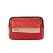 กระเป๋าใส่เหรียญขนาดเล็ก satana-Soldier / กระเป๋าใส่กุญแจ - สี Rococo สีแดง