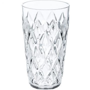KOZIOL Quilted translucent glass (transparent 450ml)